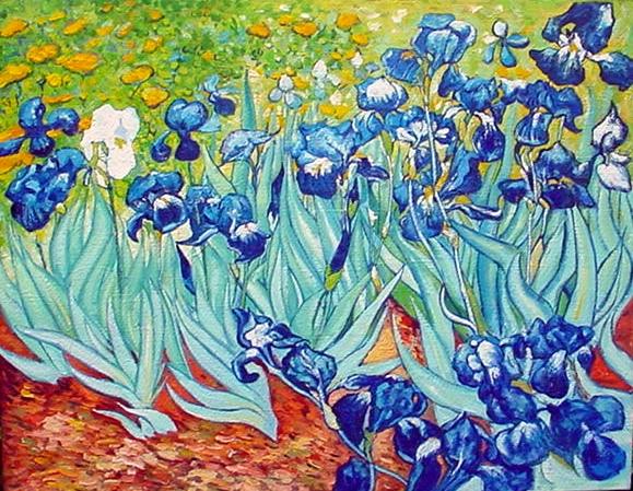 Les iris van gogh for Van gogh irises