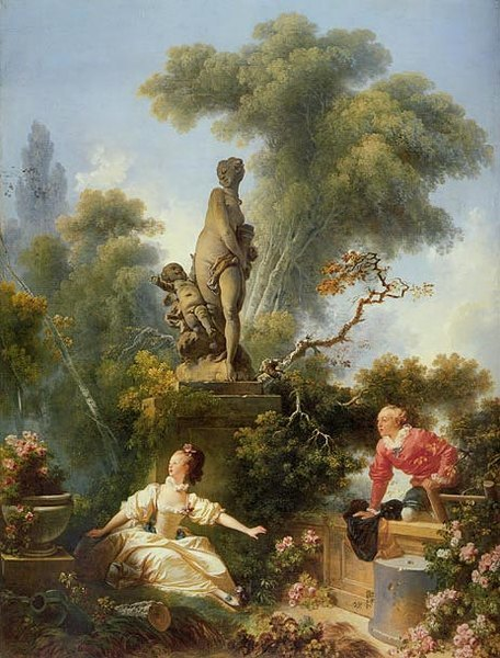 La surprise ou la rencontre J Honoré Fragonard