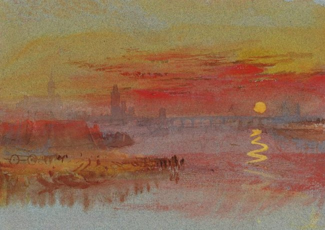 Coucher de soleil écarlate - William TURNER