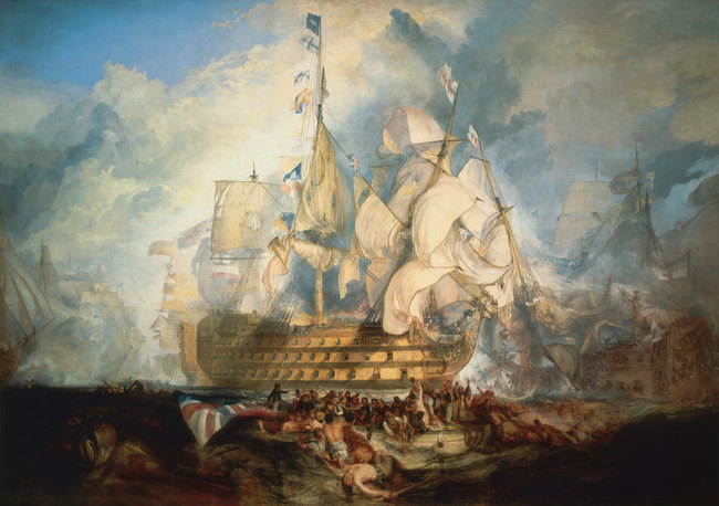 la bataille de Trafalgar - William Turner