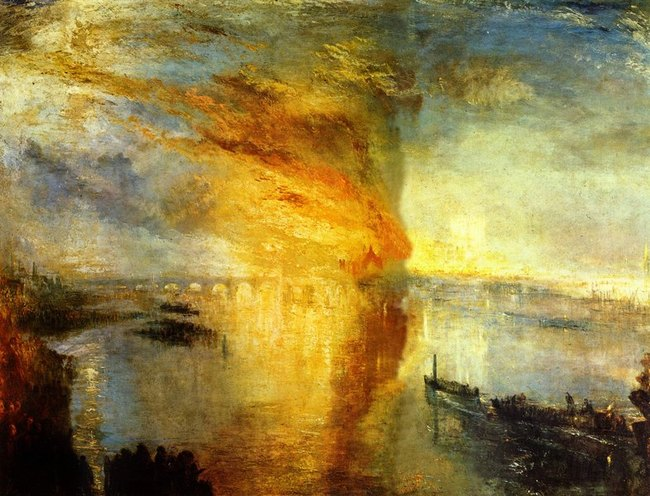 L'incendie du Parlement - William Turner