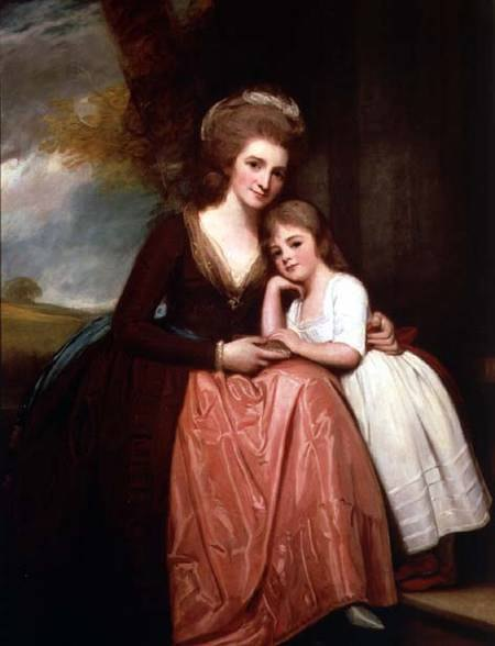 Mme Bracebridge et de sa fille Mary - Georges Romney