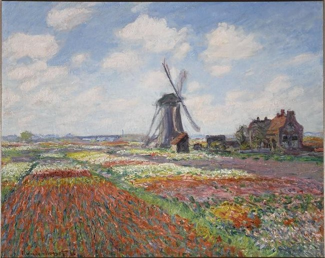 Champs de tulipes en Hollande - Claude Monet