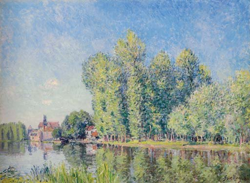 Le Loing à Moret - Alfred Sisley