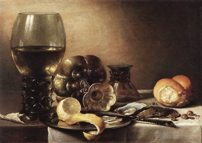Nature morte 1633 Pieter Claez