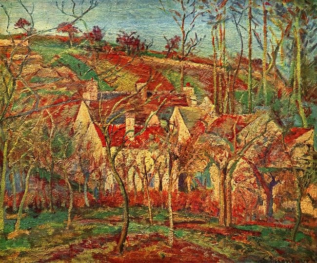 Toits rouges - Camille Pissarro