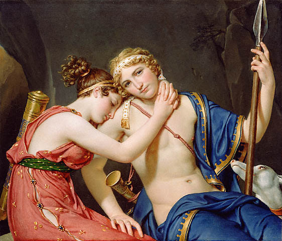 Télémaque et Eucharis - Jacques Louis David