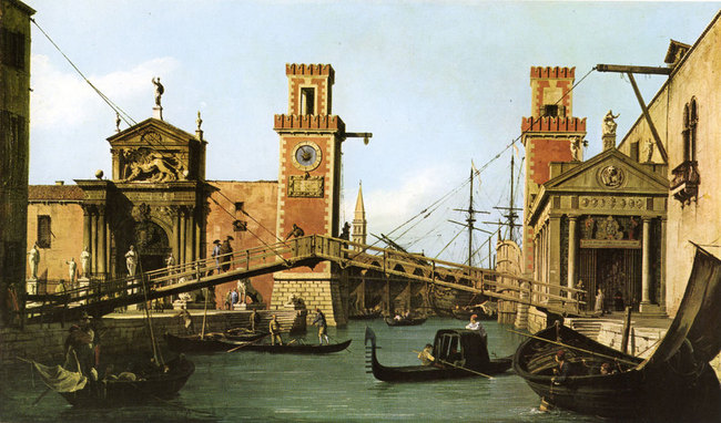 Pont de l'Arsenal - 1731 - Antonio Canaletto