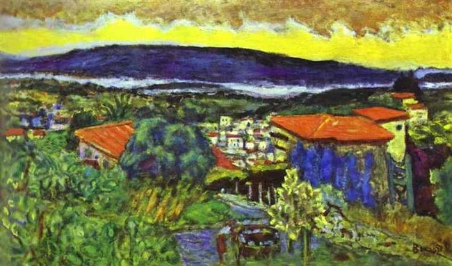 Toits rouges au Cannet -Pierre Bonnard