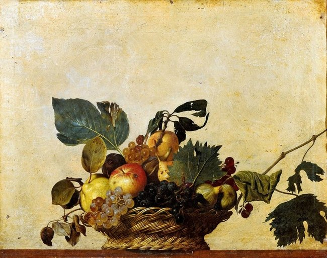 Corbeille de fruits - Le Caravage
